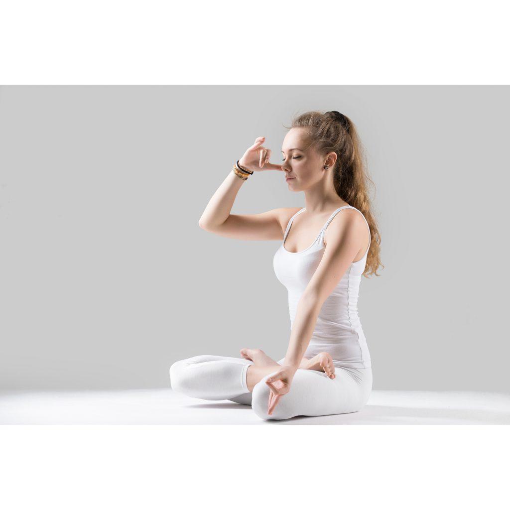 respiración nasal o pranayama posturas de yoga